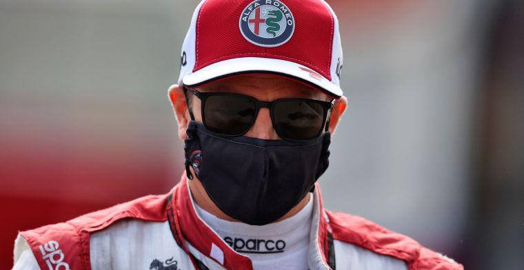 Raikkonen positief getest op het coronavirus, coureur komt niet in actie