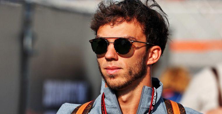 Gasly erkent: 'Red Bull wil de balans tussen Verstappen en Perez behouden'