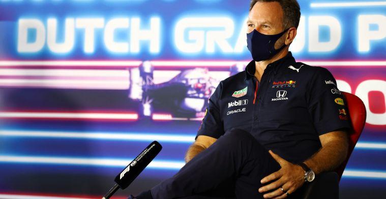 Horner ziet mogelijkheid: 'Max staat morgen aan de rechterkant van de grid'