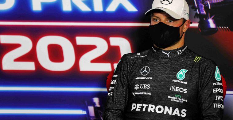 Mercedes verrast: gridstraf voor Bottas na nieuwe power unit