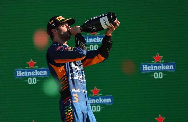 Ricciardo emotional after Italian GP win: 'Not seen mum or dad for over a year'