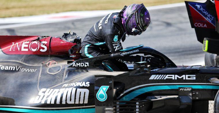 Hamilton oordeelt hard over Verstappen: 'Er is een bekende regel'