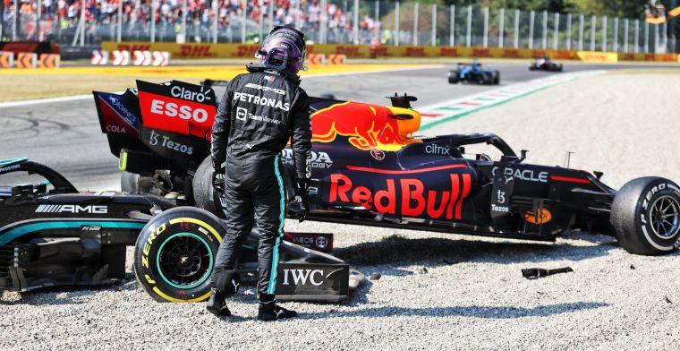 Ongeluk tussen Hamilton en Verstappen is race-incident: 'Gebeurt gewoon'