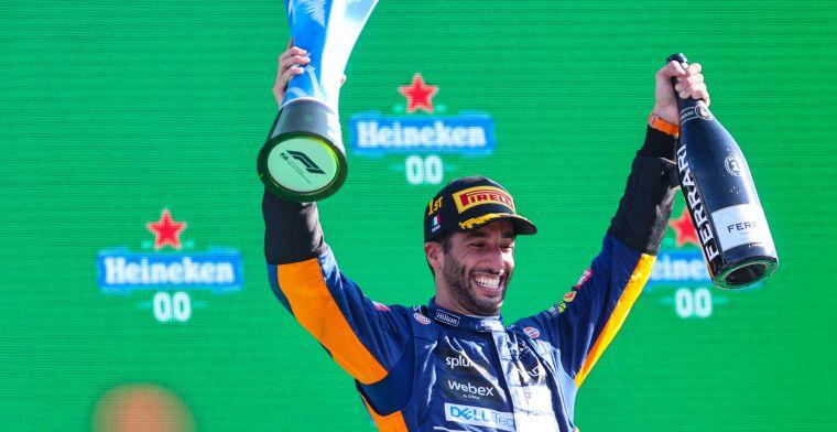Ricciardo wint weddenschap met Zak Brown: Misschien geeft hij me de auto?