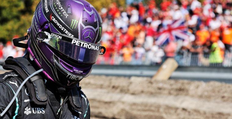 Hamilton na crash: 'Ik zal waarschijnlijk naar een specialist moeten'