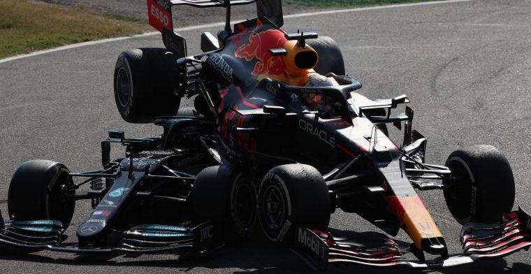 Verstappen niet 'schuldig' aan crash met Hamilton: 'Het was niet duidelijk'