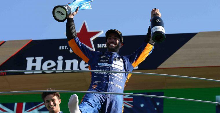 McLaren-zege komt met leuke extra's voor Ricciardo: 'Dat is te gek'