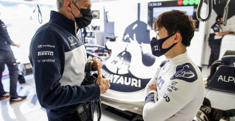 Tsunoda niet gelijk onder druk: ''De crashperiode hoort bij het leerproces''