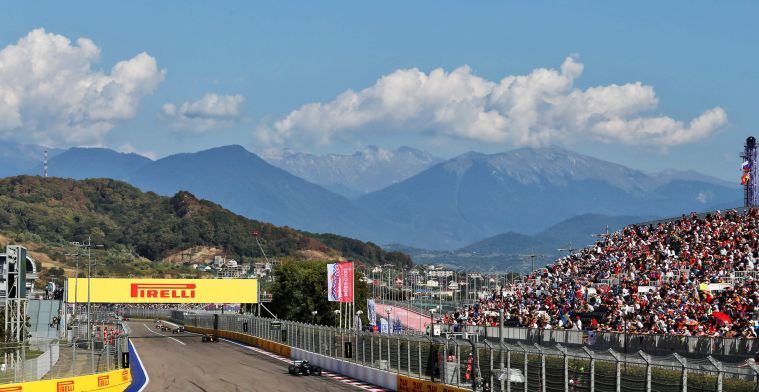 Rain this weekend in Sochi? Images of flooded paddock