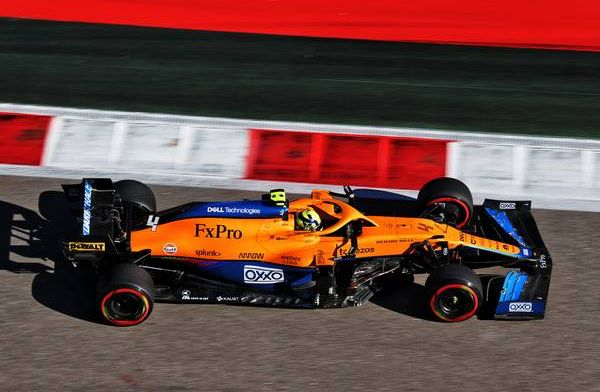 Norris on pole position for Russian GP, after Hamilton touches wall