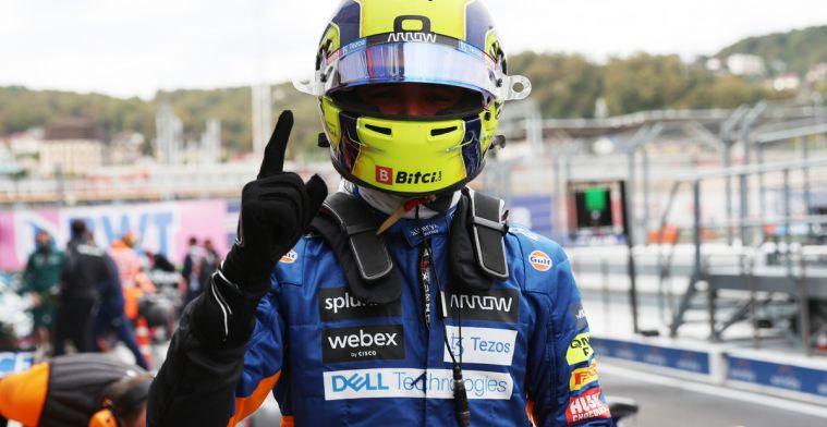 Norris op pole, Hamilton blundert en Verstappen start achteraan!