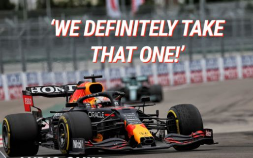 """Verstappen delighted with P2: """"We definitely take that one!"""""""