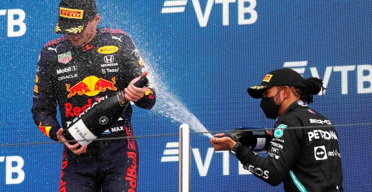 World Championship standings after Russia | Verstappen and Hamilton close