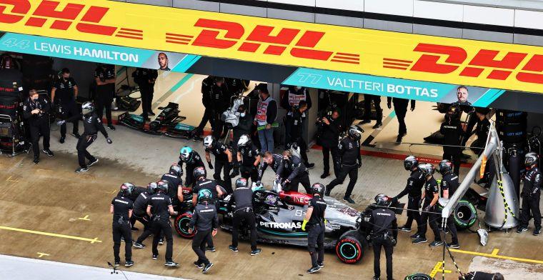Mercedes pakt snelste pitstop in Rusland, maar Red Bull nog steeds aan de leiding