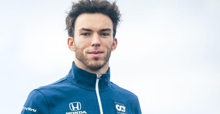 Gasly geeft niet op ondanks verlenging Perez: 'Wil in een Red Bull zitten'