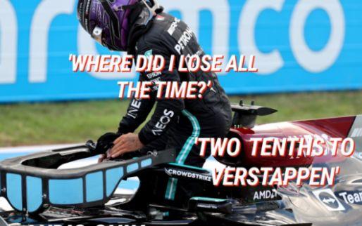 """Hamilton sip over de boordradio: """"Waar verloren we tijd?"""""""